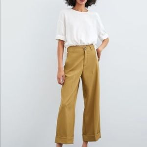 Zara high waisted wide leg trousers with pockets